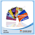 Золото / Серебряная фольга матовый ПВХ прозрачный визитная карточка