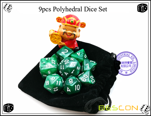 9pcs Polyhedral Dice Set-4