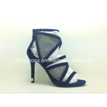 Navy Blue High Heels Sexy Women Sandal Shoes