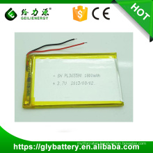 3.7v 1800mah 365590 Li polymer Rechargeble Battery