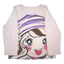 T-shirt da menina dos miúdos da mola para a roupa das crianças