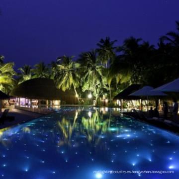 Luces de piscina de piso de estrella de fibra led