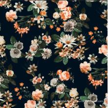 New Flower Design Printed Woven Garment Fabric