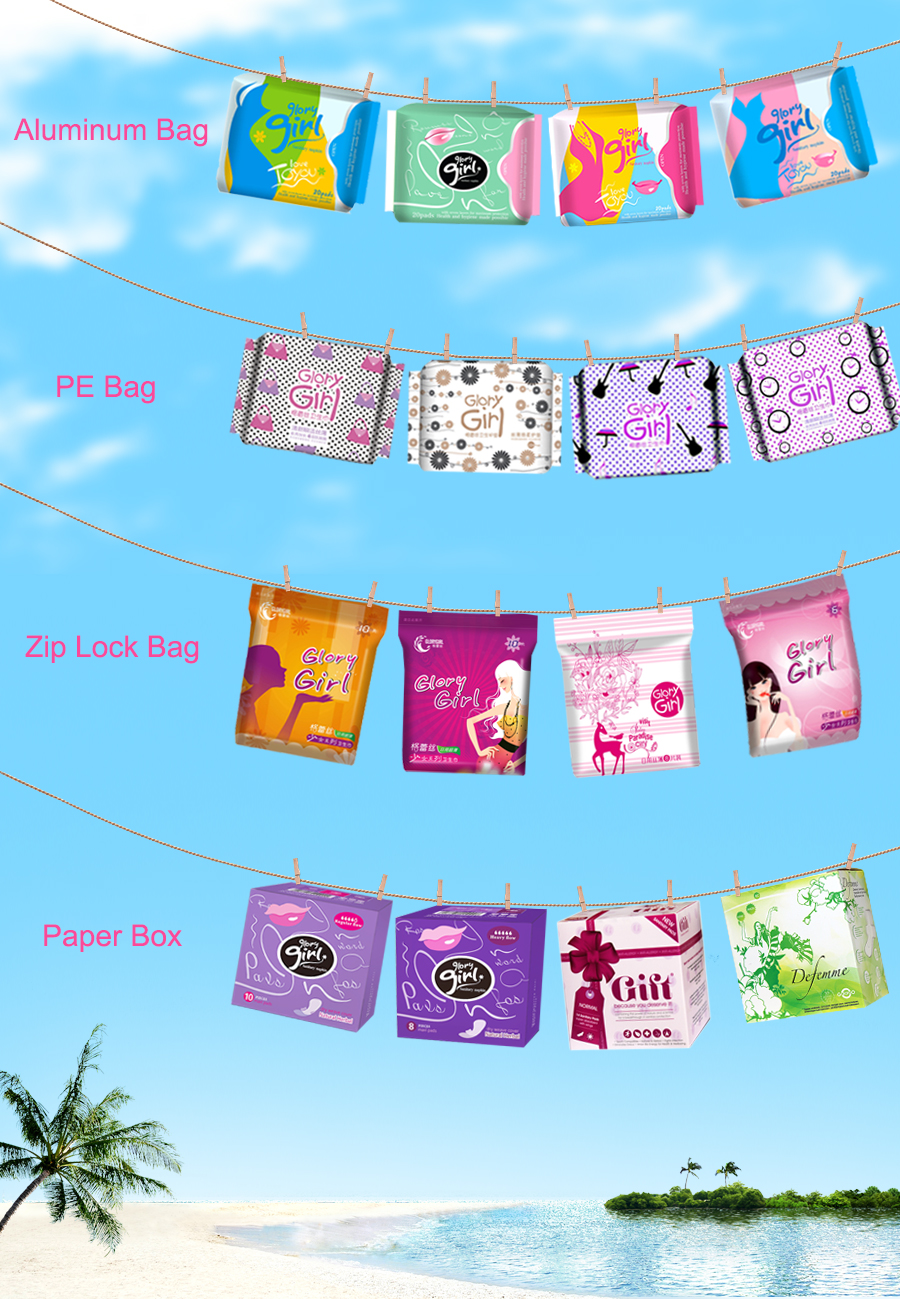 Daily natural cotton panty liners with anion