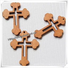 Cheap Religious Rosary Parts Wooden Cross (IO-cw007)