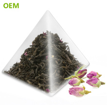 Bolsas de té / bolsitas de té del triángulo de nylon transparente biodegradable transparente de la categoría alimenticia del sello del calor del OEM