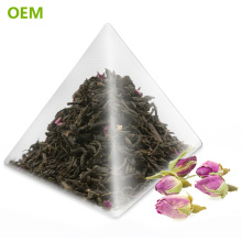 OEM Heat Seal Food Grade Biodegradable Transparent Nylon Triangle Pyramid Shaped Tea Bags/Teabags