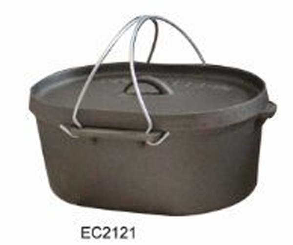 Wax Cast Iron Camping Dutch Oven
