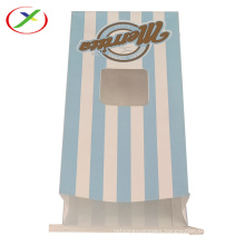 Greaseproof Paper type popcorn bag with window