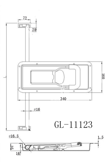 Trailer Cam Recessed Door Lock GL-11123C