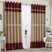Newest european style metal curtain rod organza light curtain