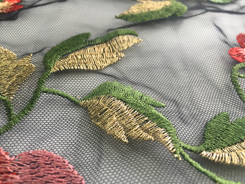 Rose Embroidery Fabric