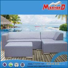 Juego de sofás de cuero moderno para patio