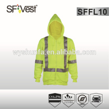 reflective safety jacket safety sweatshirt personal protective clothing with high visibility reflective tape