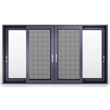 Tinted Glass Sliding Windows With Fiberglass Flyscreen