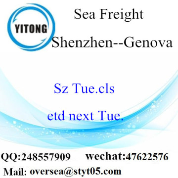 Shenzhen Port LCL Consolidation to Genova