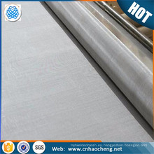 Tela de malla metálica flexible de 20 micrones / red de malla de filtro de aceite de alambre de acero inoxidable
