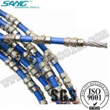 Granit coupant scié par fil, scie à fil diamanté, corde à fil diamanté