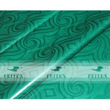Couleur verte FEITEX fait main brocart de guinée damas ghalila 100% coton Tissu africain