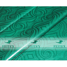 Green color FEITEX hand made guinea brocade damask ghalila 100% cotton African cloth fabric