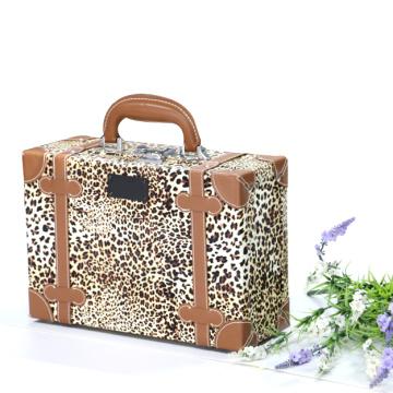 Жесткий случае Косметичка леопард печать акриловые косметический случай