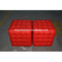 Red color stool for ottoman furniture XYN461