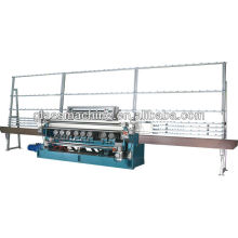 Máquina de biselamento de vidro de bavelloni manual YMLC261 com 9 cabeças de motor