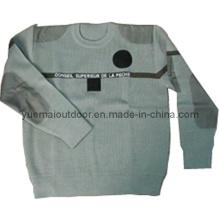 Military Sweater in Khaki mit hoher Qualität