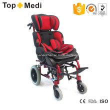 Topmedi Liegende Aluminium-Rollstühle mit hoher Rückenlehne für Kinder mit Zerebralparese