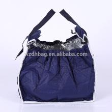 Sacola não tecida isolada não tecida do trole do carrinho de compras do saco de mantimento do saco da sacola