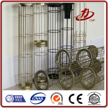 Industrial dust collector filter bag support cages