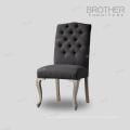 Ventes directes d'usine 100% coton tissu dinant la chaise avec le dos de tufting