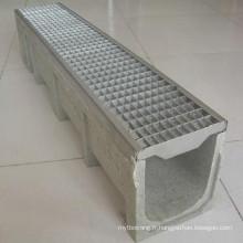 Chaîne de drainage en polymère perforée en acier inoxydable
