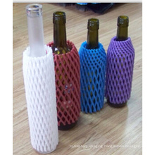 China Factory FDA Approved Free Sample EPE Foam Plastic Wine Bottle Mesh Net Popular in Australia Market
