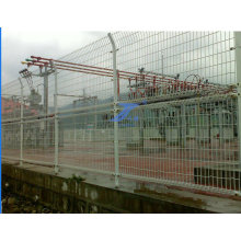 Plastic White Coated Double Loop Wire Mesh Garden Fence