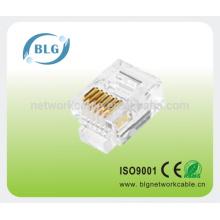 Cordón de conexión de red rj45 8p8c conector utp