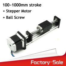 100 to 1000mm length ball screw aluminum linear actuator slide system from orginal factory