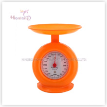 1 kg heißer Verkauf Kunststoff mechanische Küchenwaage (19,8 * 17 cm)