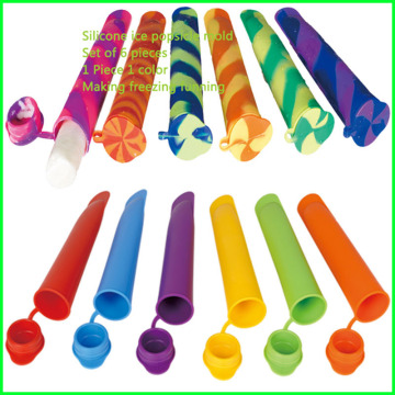 Hot Silicone Ice Pop Maker Form mit Deckel