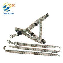 Supreme Dog Leash Harness Collar Set with Nylon Braided Leash