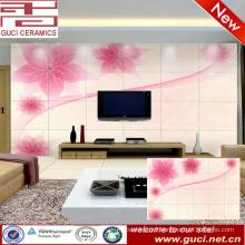3D flower design Living room TV background ceramic wall tile