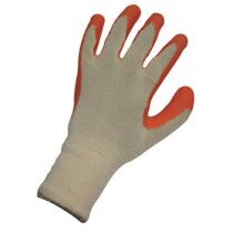 Stricken String Liner stricken Handgelenk Orange Latex Arbeitshandschuh