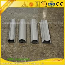 Extrusions en aluminium anodisées de revêtement de poudre pour le tube en aluminium de LED