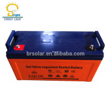 Bateria de armazenamento profunda da energia solar da vida de ciclo 12V 200AH para a luz de rua solar