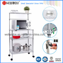 Multi-Purpose Metal cozinha forno microondas Rack com rodas (CJ-B1003)