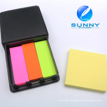 Promotional Logo Customized Sticky Note with Leather Cover