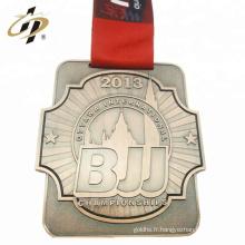 Médaille de sport bjj en métal bronze alliage de zinc personnalisée avec sa propre conception