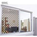 Aluminiumflügeltürfenster mit Bildschirm im Porzellan