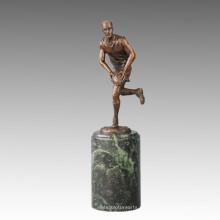 Estatua Deportiva Escultura De Bronce De Juguete De Rugby, Milo TPE-723