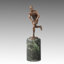 Sports Statue Rugby Player Bronze Sculpture, Milo TPE-723